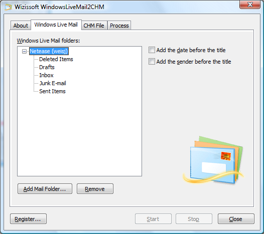 WindowsLiveMail2CHM 5.0